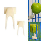 2x Birds Parrots Fruit Fork Pet Supplies Plastic Food Holder Feeding On Cage EP