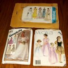 Lot of 3 Vtg. Bridal Wedding Dresses Gown Patterns, Simplicity & McCalls Girls