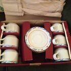 LIGNE HOSTESS Porcelain EUROPEAN FRANCE? FLAG Set CUPS AND SAUCERS  NEW IN BOX!