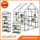 Portable Mini Greenhouse Kit Outdoor Plant Shelves Walk In Garden Green House US