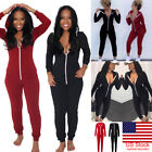 US Women Ladies Clubwear Casual Playsuit Bodycon Party Jumpsuit Romper Trousers