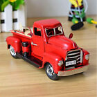 US Vintage Red Metal Truck Easter Ornament Kids Best Gifts Toy Table Top Decor