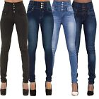 Women Denim Skinny Pants High Waist Stretch Jeans Pencil Tight Trousers 4 Colors
