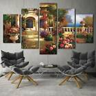 Beautiful Colorful Garden Landscape 5 Piece Canvas Art Print Picture Wall Decor
