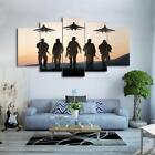 Soldiers & Jet Fighters 5 Piece Canvas Art Wall Art Picture Painting Home Decor