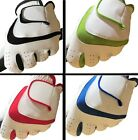 """White """"100% LEATHER"""" MENS LADIES Golf Glove LEFT RIGHT Hand Black,Blue,Red,Green"""