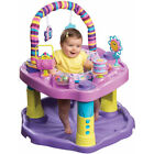 Evenflo Develop Baby Bounce Exersaucer Seat Pad And Learn Sweet Tea Female Party