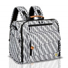 ALLCAMP Zebra Diaper Bag Large, Support Baby Stroller, Converted Into a Tote and