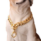 Pet Dog Collars Choke Gold Silver Cuban Chain Dog Necklace 11mm Stainless Steel