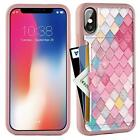 iPhone Xs Case iPhone X Wallet Case Credit Card Holder Slim Protective Mermaid