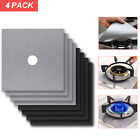 Внешний вид - 4 Gas Range Stove Top Burner Protector Reusable Non-stick Cover Liner Clean Cook