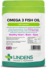 Omega 3 Fish Oil 1000mg Capsules 30% DHA/EPA High Strength 90 or 360 Lindens