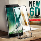 6D Clear Full Cover Tempered Glass Screen Protector Film For ihpone X 6/7/8 Plus
