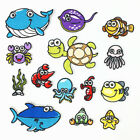 Fish Badges Iron on Patches Sea Embroidered Transfer Child Applique Kids Clothes $0.99 USD on eBay