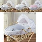 Palm Baby Deluxe Moses Basket | Padded Suitable From Birth Inc Mattress