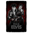 ELVIS PRESLEY COMEBACK PERFORMANCE THROW BLANKET FREE SHIPPING IN US