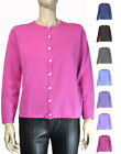 Liz Baker Petite Basic Crew Neck Long Sleeve Knit Sweater Cardigan  PS ~ PL