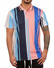 BLEECKER & MERCER Poly Striped Polo Pink