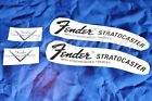 2 x Decalcomania Decal Fender Stratocaster Chitarra Guitar Black