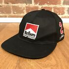 Vintage Marlboro Racing Team Snapback Hat Adjustable Penske Adventure Team Black