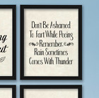 Funny Bathroom Wall Art Print Farmhouse Decor Picture Signs Quotes Gag Gift