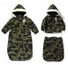 A BATHING APE PIRATE STORE KIDS 1ST CAMO BABY JACKET Green From Japan New