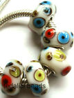 Wholesale Silver Lampwork Murano Glass Beads Fit European Charm Bracelet TF150