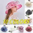 Women's Fascinators Kentucky Derby Church Dress Wedding Floral Tea Party Sun Hat