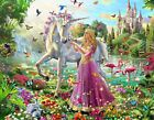 UNICORN PRINCESS FANTASY KIDS POSTER PRINT un1 - VARIOUS SIZES - BIG or SMALL