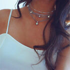 Top Holiday Gifts Boho Women Multi-layer Long Chain Pendant Crystal Choker Necklace Jewelry Gift