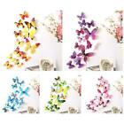 12 Pcs/lot Pvc Butterfly Decals 3d Wall Stickers Home Decor Room Wall Decoration