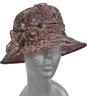 Women's Dressy Straw Sinamay Hat for Church Special Occasion or Kentucky Derby