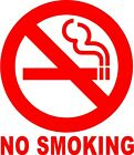 NO SMOKING Circle Sign Vinyl Decal Sticker