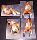 LOT (4) Sexy Busty HOOTERS BABE redhead 4x6 GLOSSY PHOTO SET amateur candid #A1