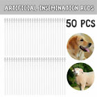 50X 10'' Artificial Insemination Rods Tube For Canine Dog Goat Sheep Breeding AI