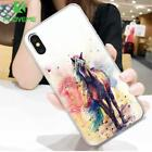 For Samsung Galaxy S6 Soft Silicon TPU Phone Case Cover Colorful Horse Pattern