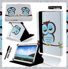 "Samsung Galaxy Tab A A6 Tablet 7"" 8"" 10.1"" Cover Case Stand Leather Sleeping Owl"