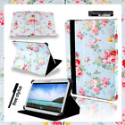 "Samsung Galaxy Tab A A6 Tablet 7"" 8"" 10.1"" Cover Case Stand Leather Blue Floral"