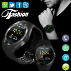 Y1 Bluetooth Smart Watch Wrist Phone Mate Round Touch Screen GSM for Android IOS