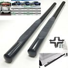 "Black 3"" Round Side Step Nerf BarFor 97-04 Toyota Tacoma Access Extended Cab"