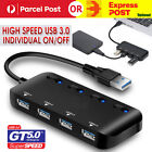 multi usb 3 0 hub 4 port high speed slim compact expansion smart splitter