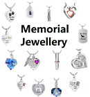 Cremation Jewellery Ashes Pendant Necklace Locket Urn Keepsake Memorial - UK