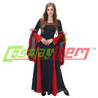 US SHIPPING Medieval Renaissance Dress medeival cosplay costume fancy dress