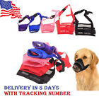 Dog Pet Puppy Mouth Mask Stop Chewing Muzzle Safety Adjustable Anti Bite USA SLR
