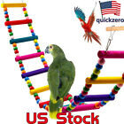 Pet Bird Wood Ladder Climb Cableway Hamster Toys Rope Parrot Bites Harness Cage
