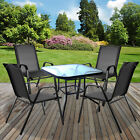 GARDEN FURNITURE SETS OUTDOOR PATIO SEATS GLASS TABLES & STACKING CHAIRS PARASOL