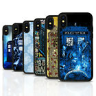 Dr Who Tardis Art Black Rubber Mobile Phone Case Cover Fits Iphone 4 5 6 7 8 X