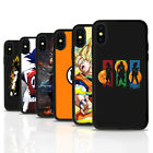 Dragon Ball Z Anime Black Rubber Mobile Phone Case Cover Fits Iphone 4 5 6 7 8 X