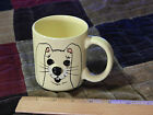 """Mount Clemens Pottery """"Yours From the Good Earth"""" [Bunny-Rabbit] Yellow MUG_CUP"""