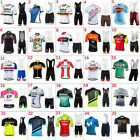 2019 Mens Cycling Clothing Bicycle Short Sleeve Cycling Jerseys Bib Shorts sets